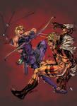 hawkeye vs sabretooth by spiderguile-d8k5vvp XGX