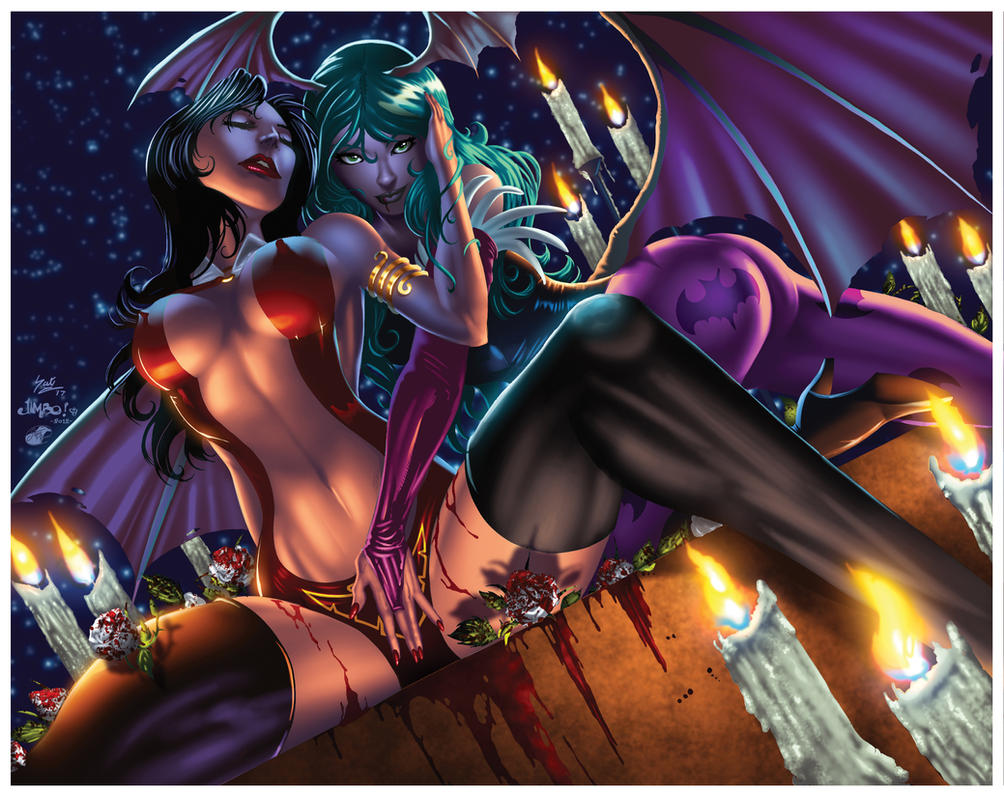 135 Jimbo Salgado S Vampirella And Morrigan XGX by knytcrawlr