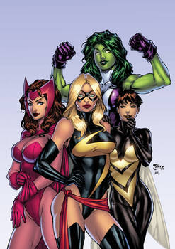 avengers girls by texas0418-dadv3we XGX