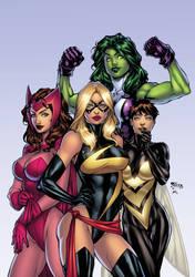 avengers girls by texas0418-dadv3we XGX