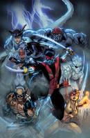 Amazing X Men 5 Cover  XGX by knytcrawlr