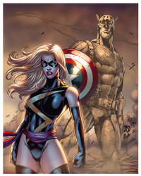 miss marvel captain flatsAlexasrosa XGX by knytcrawlr