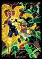 Sinestro Vs Arisia n Jessica Cruz X by knytcrawlr