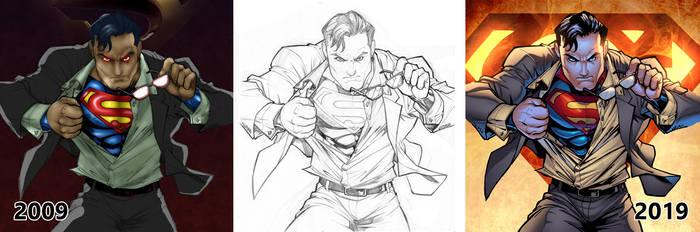 Old Superman Sketch By Carlosgomezartist D1s68 by knytcrawlr
