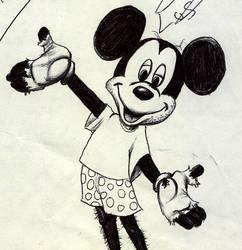 poor Mickey, ballpoint doodle