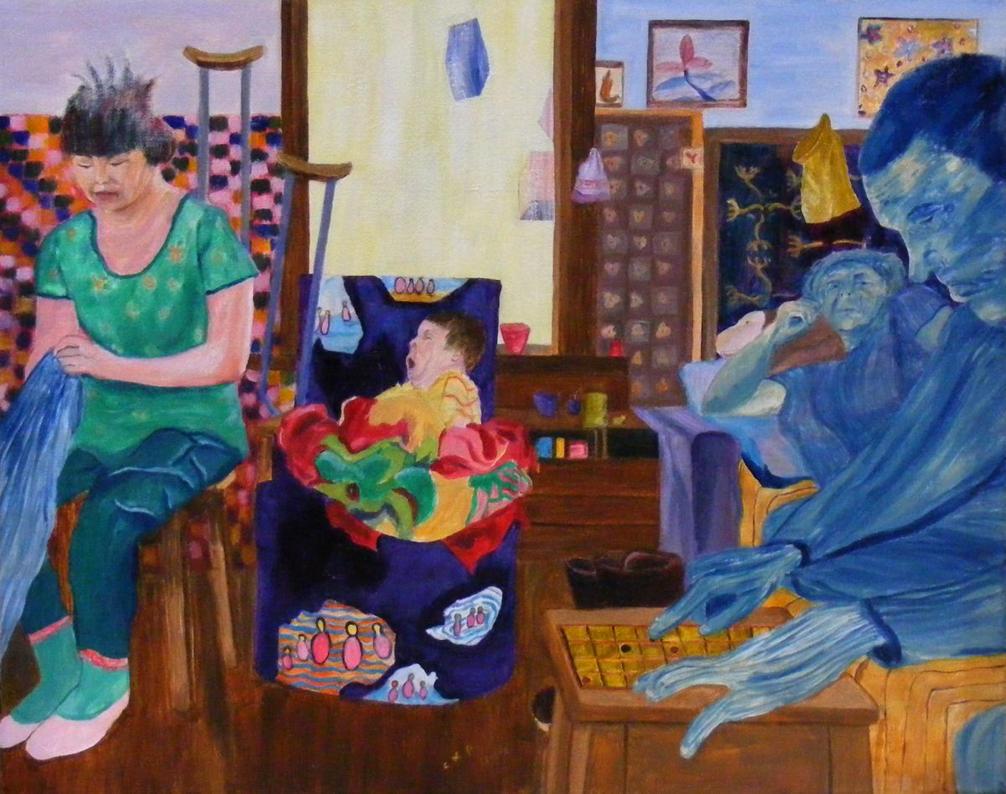 domestic scene by ckp