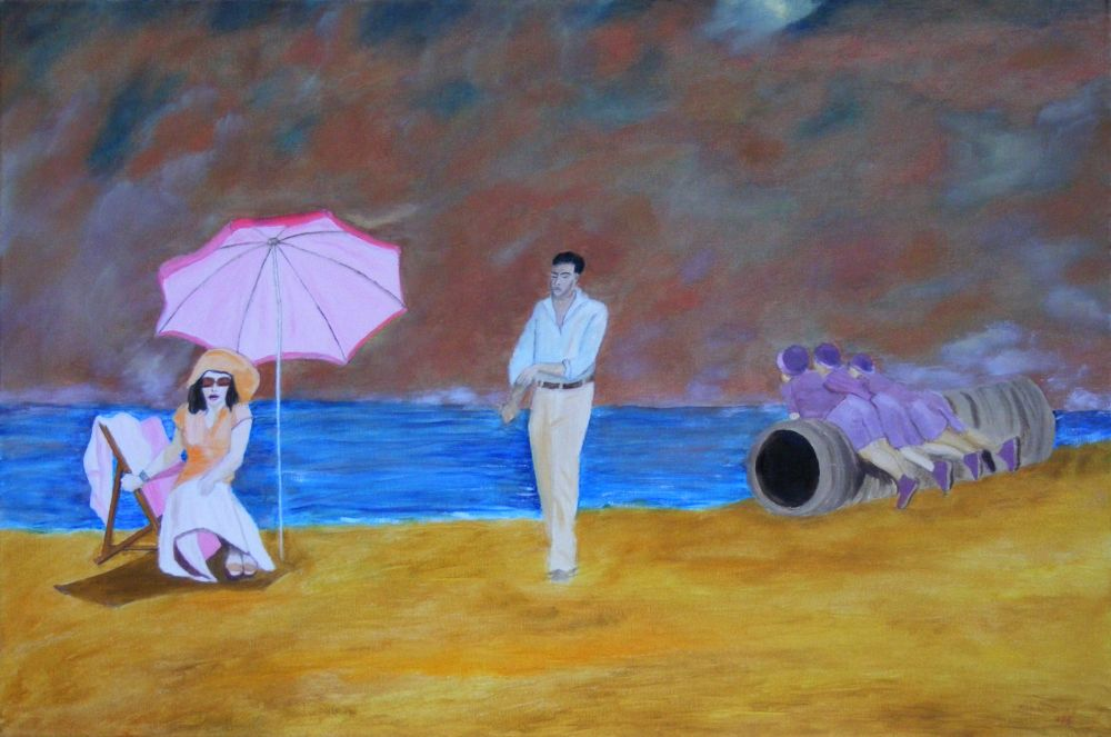 five on a beach by ckp