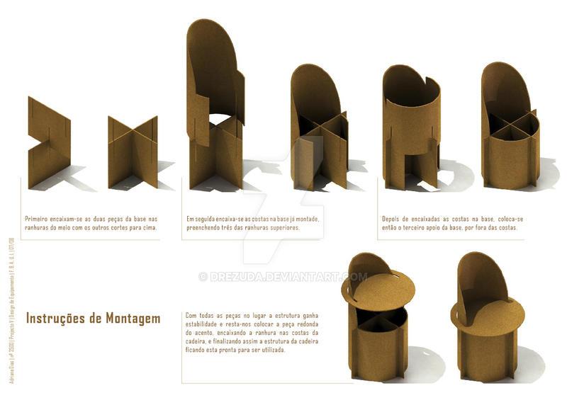cardboard chair by drezuda cardboard chair design no glue66 design
