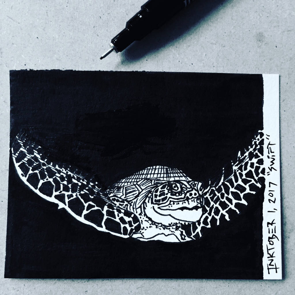 Inktober 1, 2017 'Swift' by vertseven
