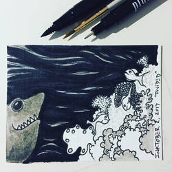Inktober 2, 2017 'Divided' by vertseven