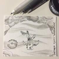 Inktober 4, 2017 'Underwater' by vertseven
