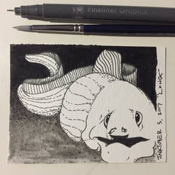 Inktober 5, 2017 'Long' by vertseven