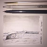 Inktober 19, 2017 'Cloud' by vertseven