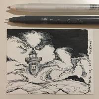 Inktober 21, 2017 'Furious' by vertseven