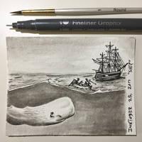 Inktober 25, 2017 'Ship' by vertseven