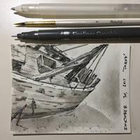 Inktober 30, 2017 'Found' by vertseven