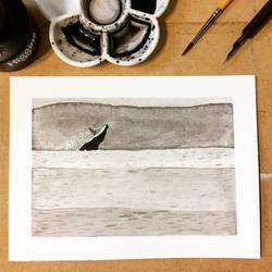 Inktober 12, 2018 Whale by vertseven