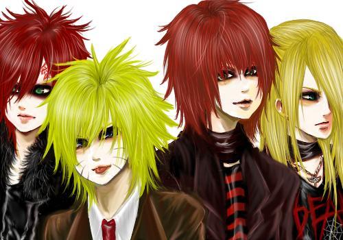 Naruto,Gaara,Deidara,Sasori by nikuo