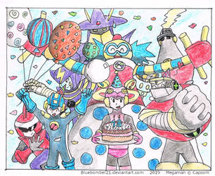 18th Anniversary MegaManBattleNetwork by BlueBomber21
