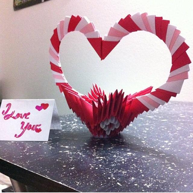 Heart Basket 3D Modular Origami By AyR21