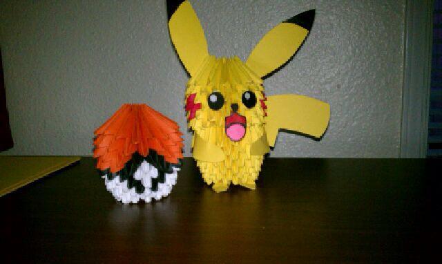 Pikachu And Pokeball 3d Modular Origami By Ayr21 On Deviantart