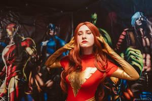 Dark Phoenix cosplay, Comics Day, Nirvana live bar by Shiera13