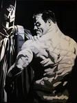 Alex Ross Batman Fan Art Batman Black and White