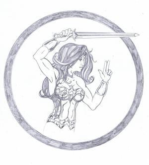 Wonder Woman Sketch Pencils
