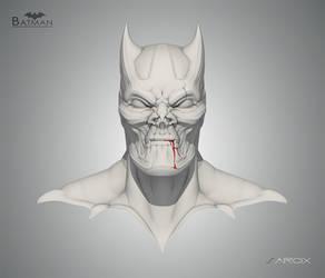 BAT-MAN sculpt sketch by Sarcix82