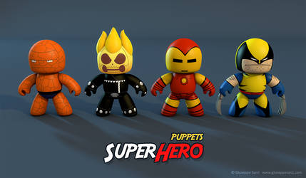SuperHero puppets by Sarcix82