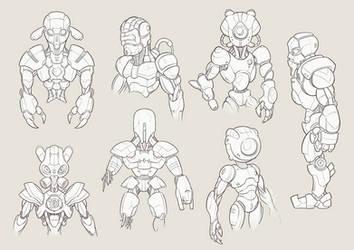 Robots sketch by Sarcix82