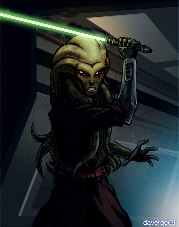 Jedi Master Kit Fisto colored by daverge