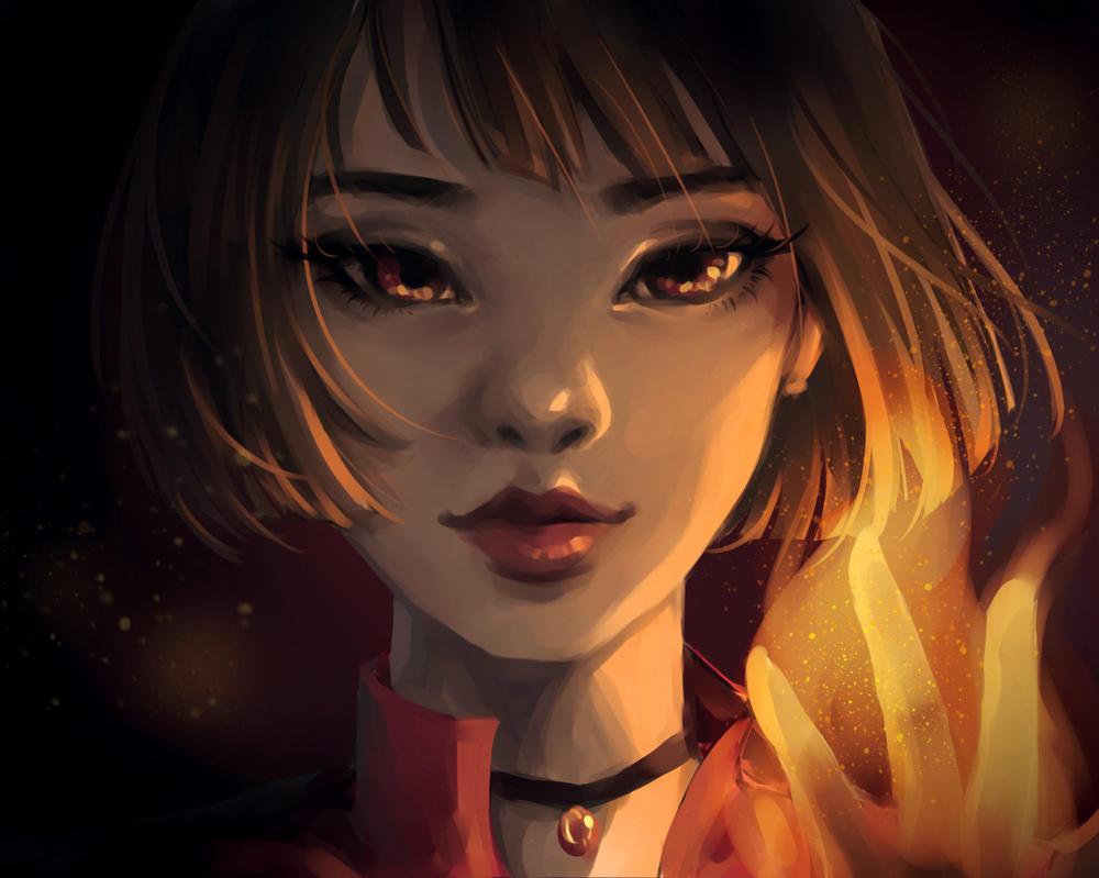 Fiery by roerow