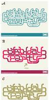 Birthday Party Logo versions.
