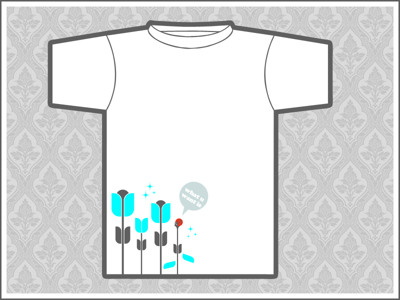 wuwi flowers girls tee by schakalwal