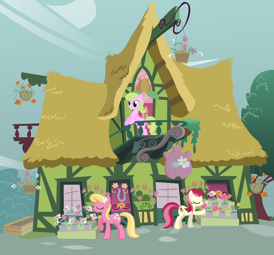 Ponyville Flower Shop by RainbowRage12