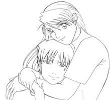 Royai Roy and Riza by yaiina
