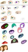 Eye sketches by kiki-kit