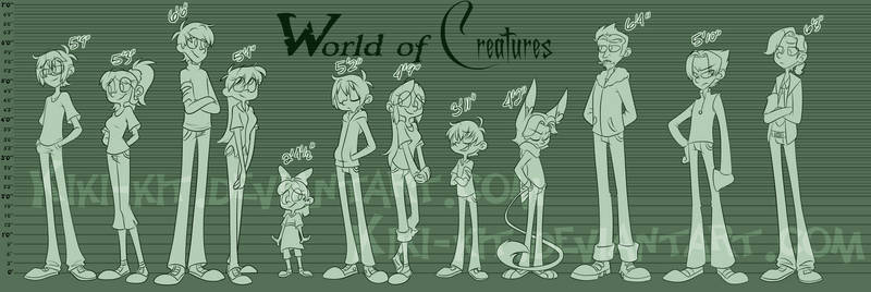 W.o.C Character Height Sheet