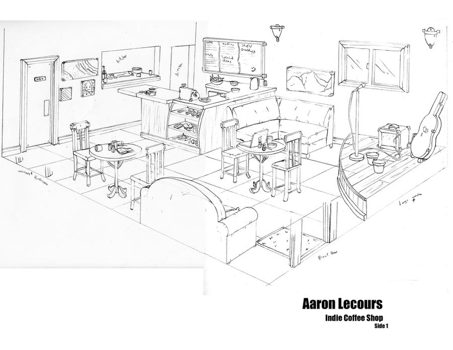 Indie Coffee Shop Layout 1 by AaronLecours ...
