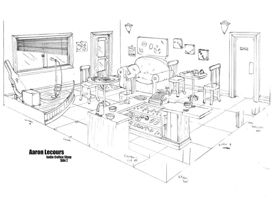 Indie Coffee Shop Layout 2 By AaronLecours On DeviantArt
