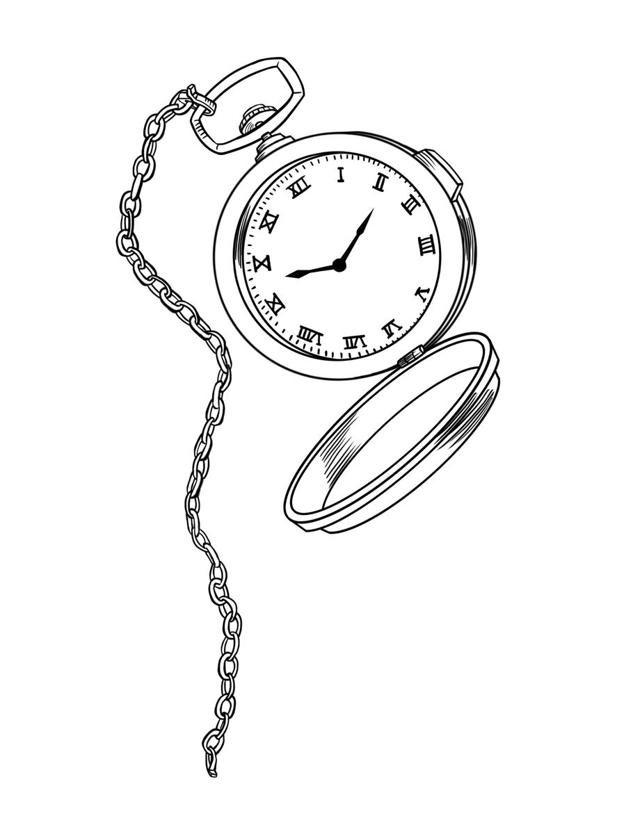 pocket watch tattoo design by aaronlecours on deviantart. Black Bedroom Furniture Sets. Home Design Ideas