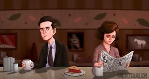 Twin Peaks Diner Illustration