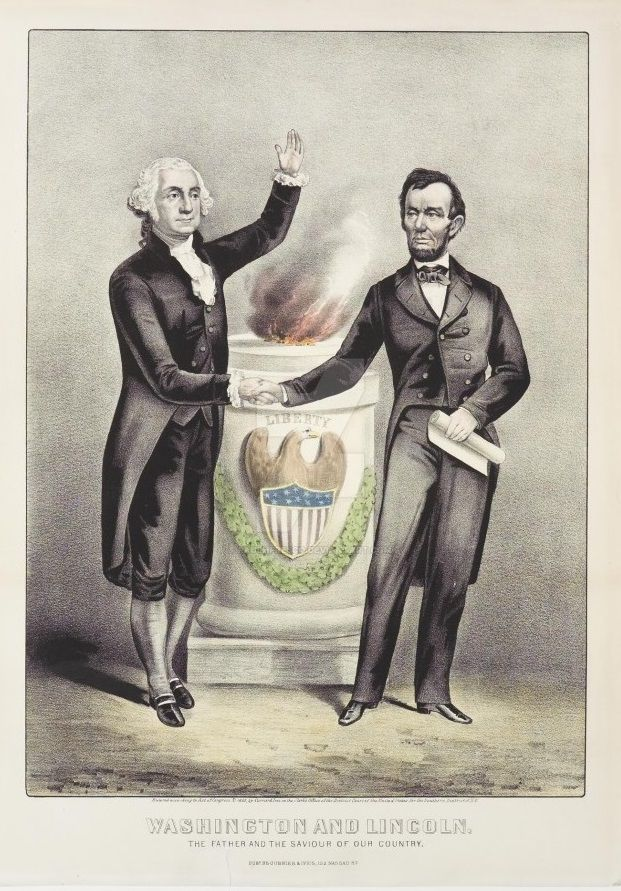 Washington And Lincoln 1876 by PaulHFresco