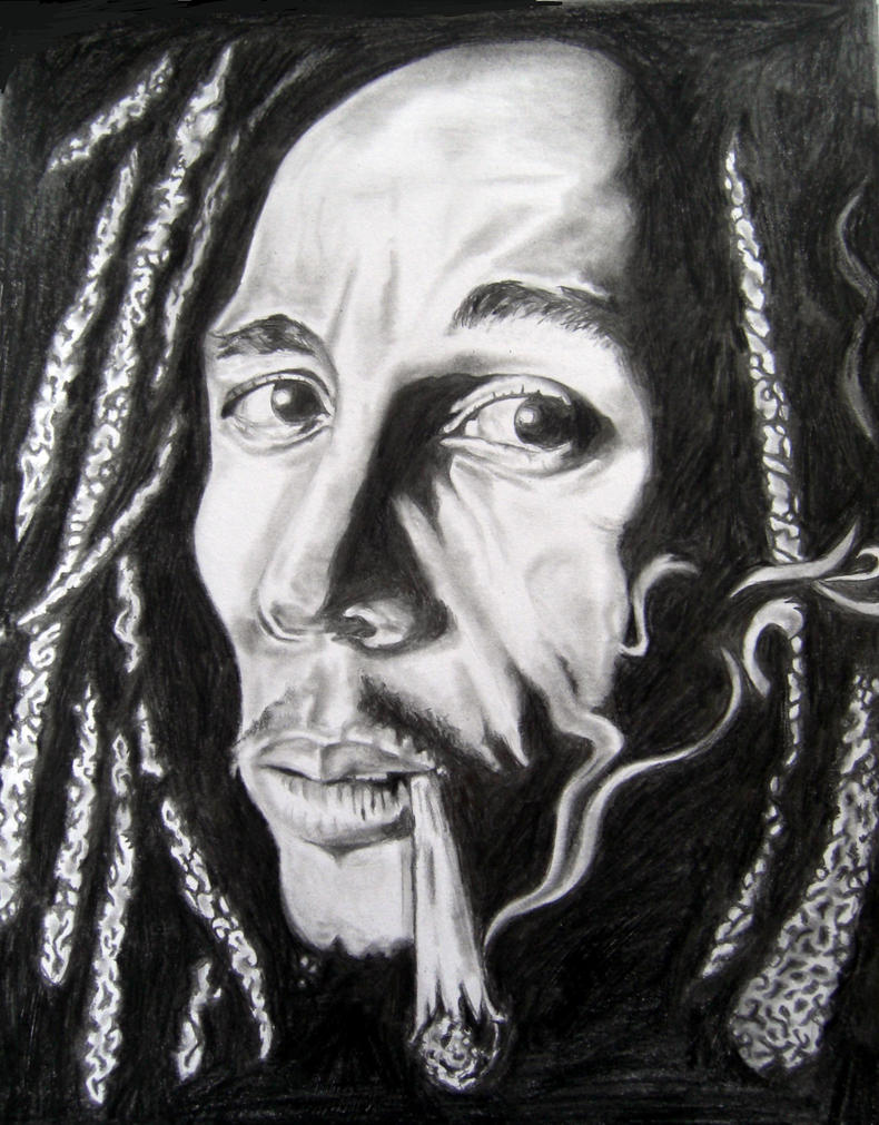Bob Marley Sketch By Rayjaurigue LONG HAIRSTYLES - Easy Hairstyles For Long Thin Hair