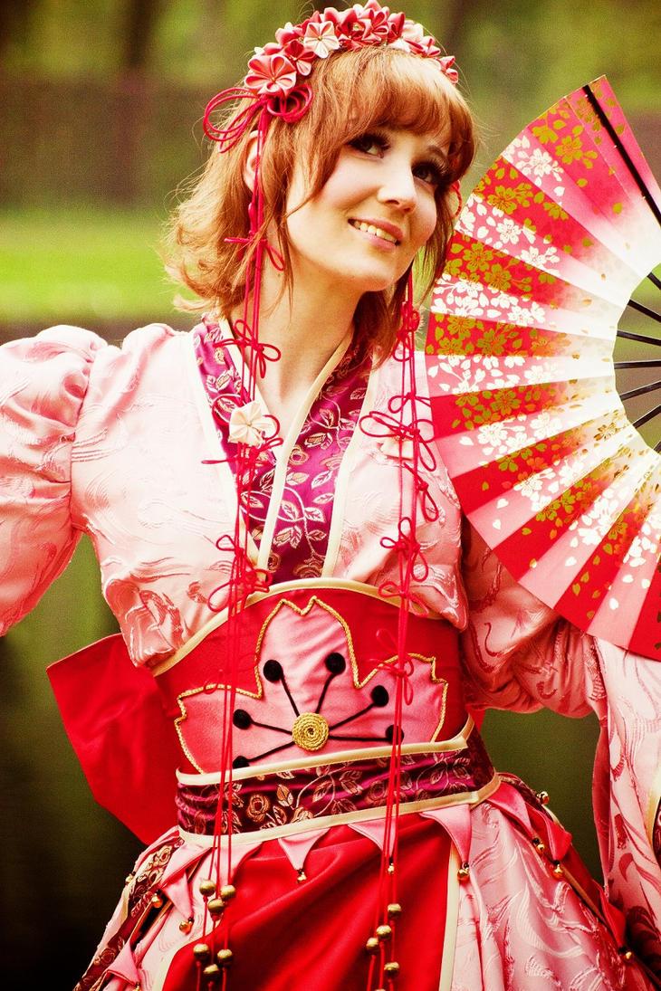 Sakura - Golden Blossom by e-Sidera