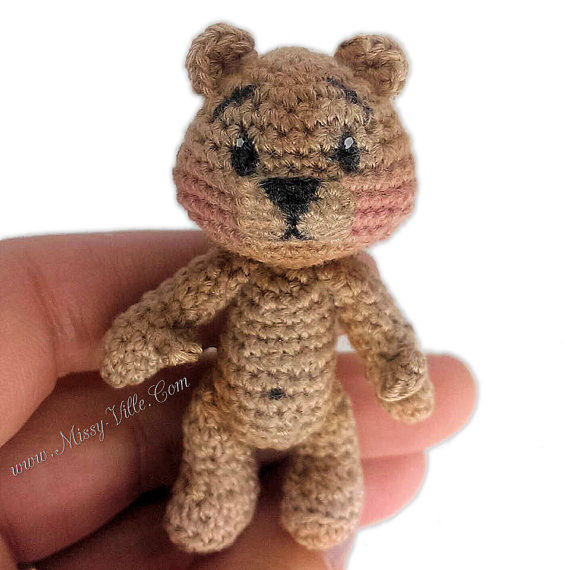 Teeny Tiny Teddy Bear ~ Crochet Amigurumi by MissyBaque on ...