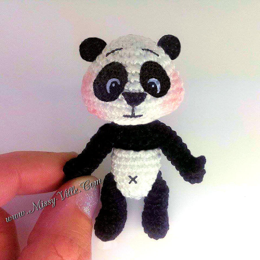 Amigurumi Panda Au Crochet : Pretty LiL Panda ~ Crochet Amigurumi by MissyBaque on ...