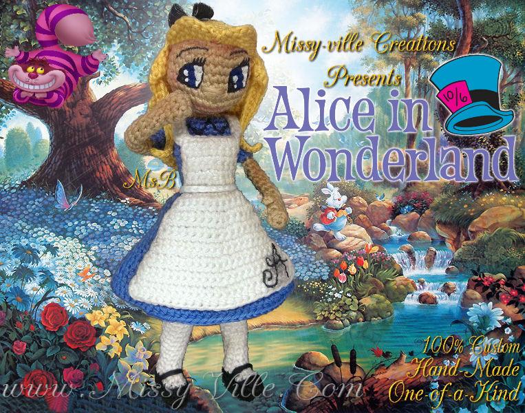 Crochet Pattern Alice in Wonderland Amigurumi Doll Pattern | Etsy | 600x763