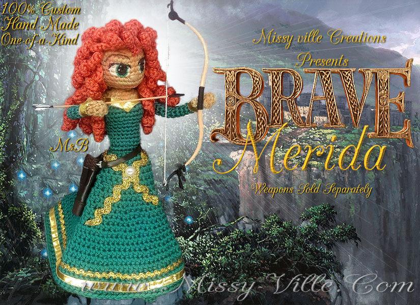 Amigurumi Patterns Disney : Disney s merida brave crochet doll by missybaque on deviantart
